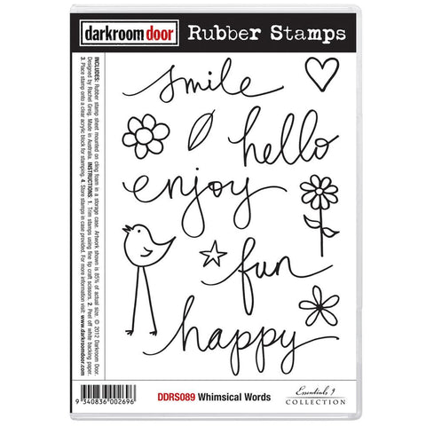 "Darkroom Door - Cling Stamps 7""X5"" - Whimsical Words"