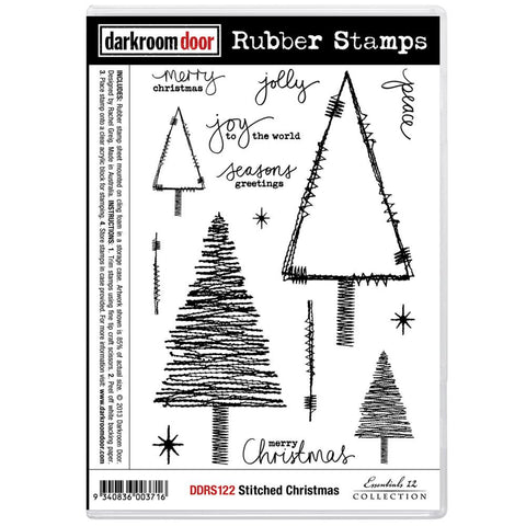 "Darkroom Door - Cling Stamps 7""X5"" - Stitched Christmas"