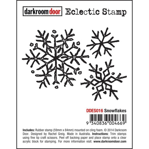 "Darkroom Door - Cling Stamps 3""X2"" - Snow Flake"