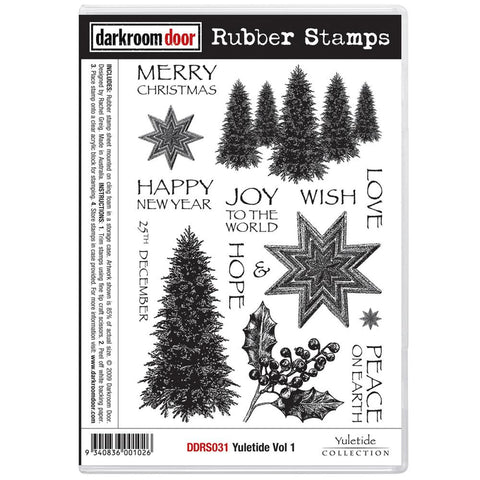 "Darkroom Door - Cling Stamps 7""X5"" - Yuletide Vol 1"