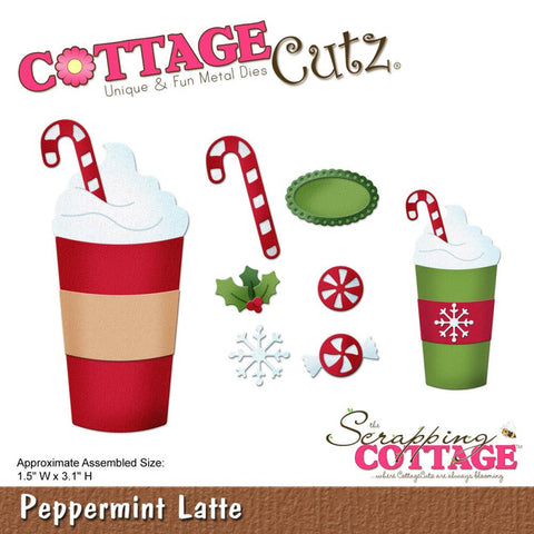 "CottageCutz Die - Peppermint Latte, 1.5""X3.1"""