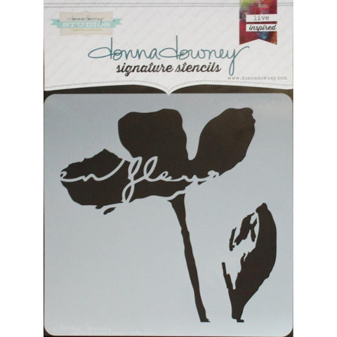 "***New Item*** Donna Downey Signature Stencils, 8.5""X8.5"" - En Fleur"
