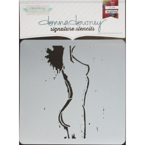 "***New Item*** Donna Downey Signature Stencils, 8.5""X8.5"" - Femme"