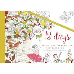 ***New Item*** KaiserColour Postcard Book 20/Pkg - 12 Days Of Christmas
