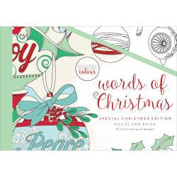 ***New Item*** KaiserColour Postcard Book 20/Pkg - Words Of Christmas
