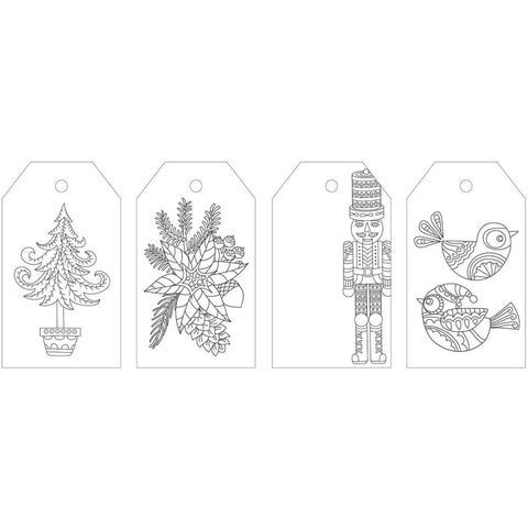 KaiserColour Coloring Tag Pack 24/Pkg - 'Tis The Season Christmas