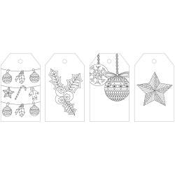***New Item*** KaiserColour Coloring Tag Pack 24/Pkg - Merry Christmas