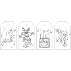 ***New Item*** KaiserColour Coloring Tag Pack 24/Pkg - Christmas Cheer