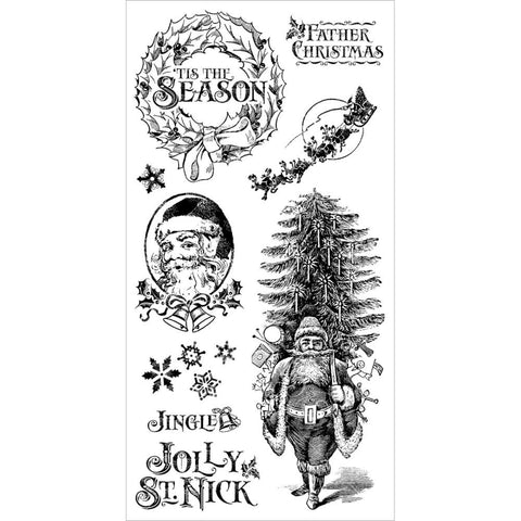 Hampton Art, Graphic 45 St Nicholas Cling Stamps - One