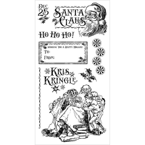 Hampton Art, Graphic 45 St Nicholas Cling Stamps - Three