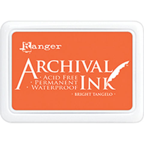 ***New Item*** Ranger- Archival Ink Pad #0 - Bright Tangelo