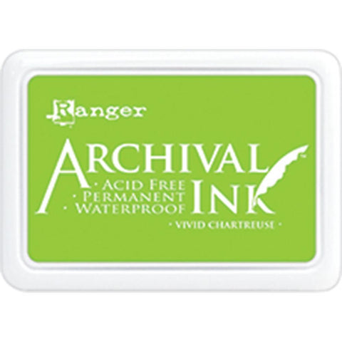 Ranger- Archival Ink Pad #0 - Vivid Chartreuse