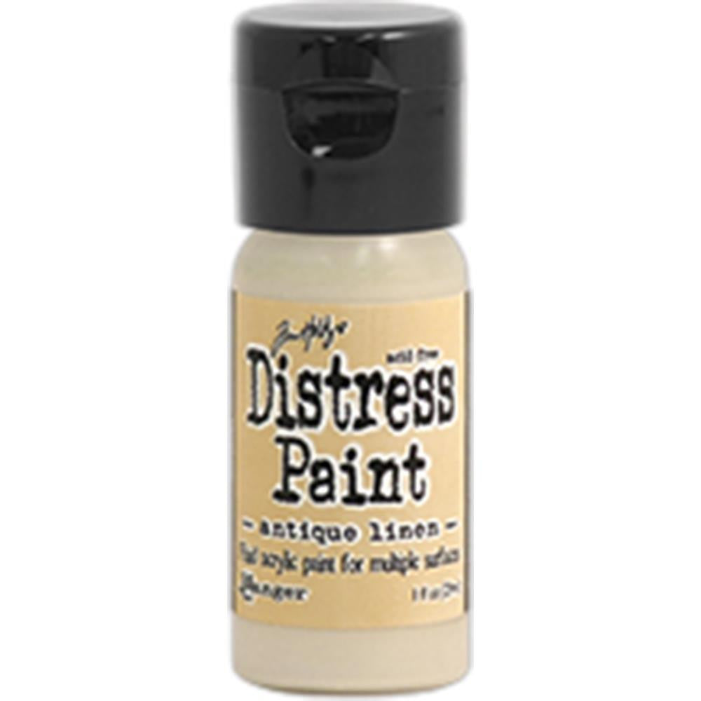 Ranger, Tim Holtz, Distress Paint Flip Cap 1oz - Antique Linen