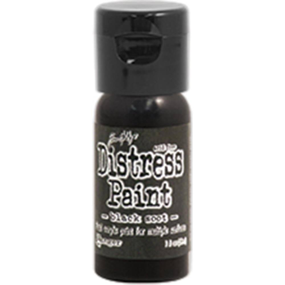 Ranger, Tim Holtz, Distress Paint Flip Cap 1oz - Black Soot