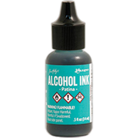 Tim Holtz Alcohol Ink, .5oz - Patina