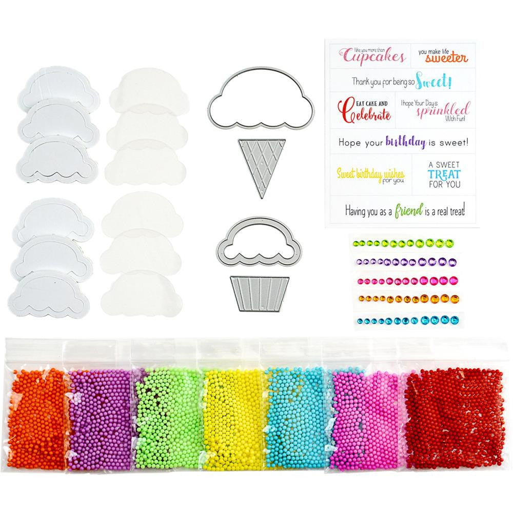 Sweet Treat Shaker Kit For Cards - Ice Cream Cone & Cupcake