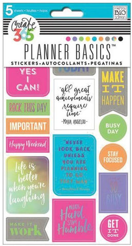 Me & My Big Ideas - Create 365 Planner Basics Stickers - Neon - Rock This Day