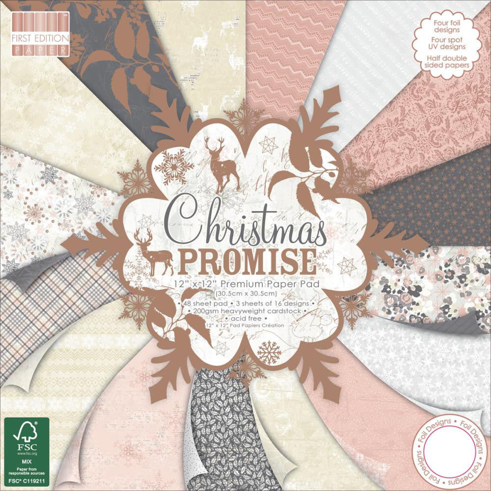 "First Edition - 8"" x 8"" Paper Pad - Christmas Promise"