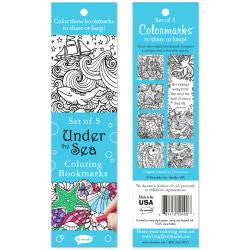 Coloring Bookmarks 5/Pkg - Under The Sea