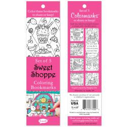Coloring Bookmarks 5/Pkg - Sweet Shoppe