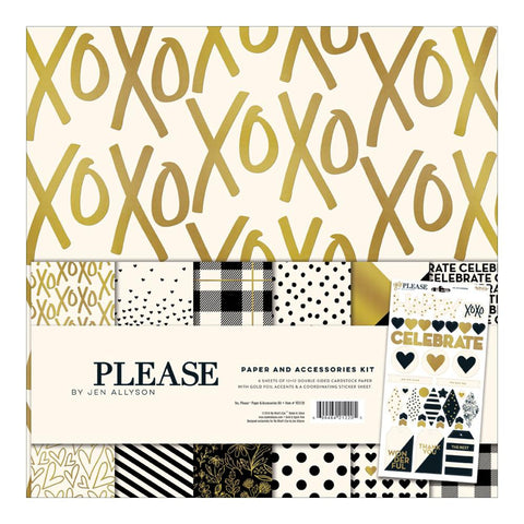 "***New Item*** My Mind's Eye, Paper & Accessories Kit 12""X12"" - Yes, Please"