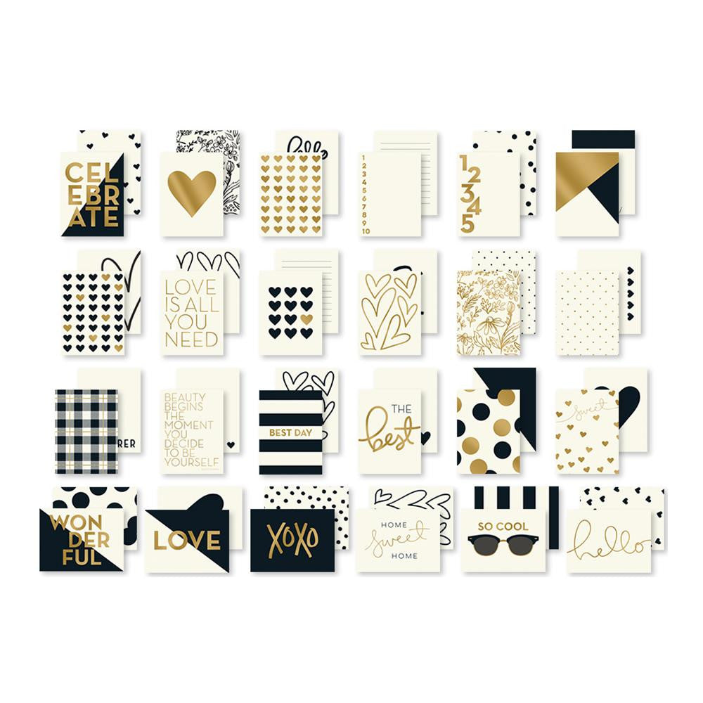 My Mind's Eye, Yes, Please Double-Sided Journal Cards 24/Pkg - W/Gold Foil Accents