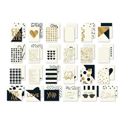 ***New Item*** My Mind's Eye, Yes, Please Double-Sided Journal Cards 24/Pkg - W/Gold Foil Accents