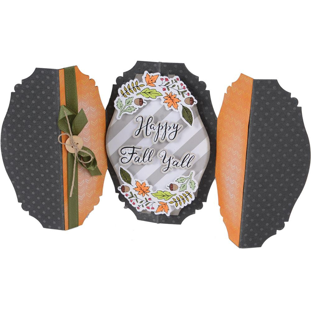 Sizzix - Framelits Dies with Stamps By Jen Long - Happy Fall Y'all
