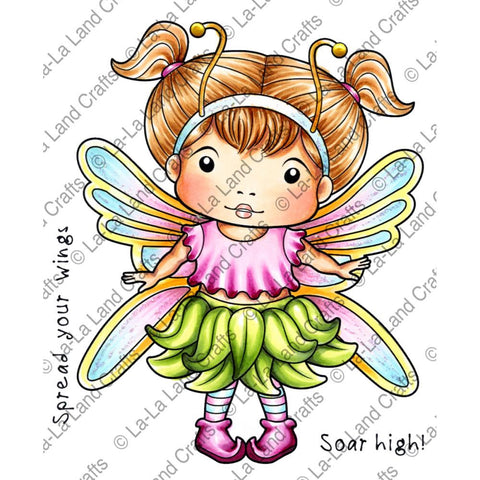 "***Pre-Order*** La-La Land Crafts - Cling Stamps 4.5"" x 3.5"" - Butterfly Marci"