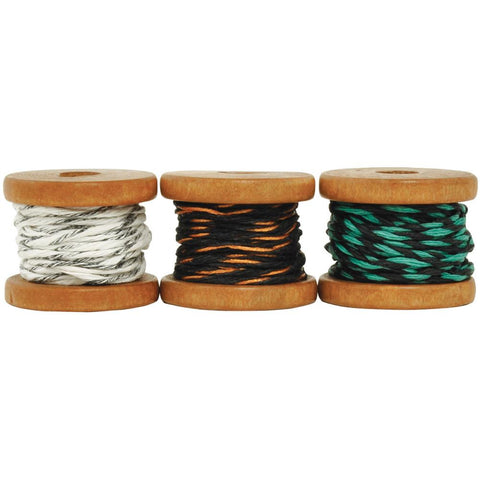 ***New Item*** Kaisercraft, Lucky Dip Mini Spool Hemp Cord - Choc-Mint, (2) 2.7m & (1) 3.5m