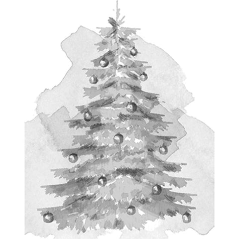 "Spellbinders 3D Cling Stamp 2.75""X4"" - Christmas Tree"
