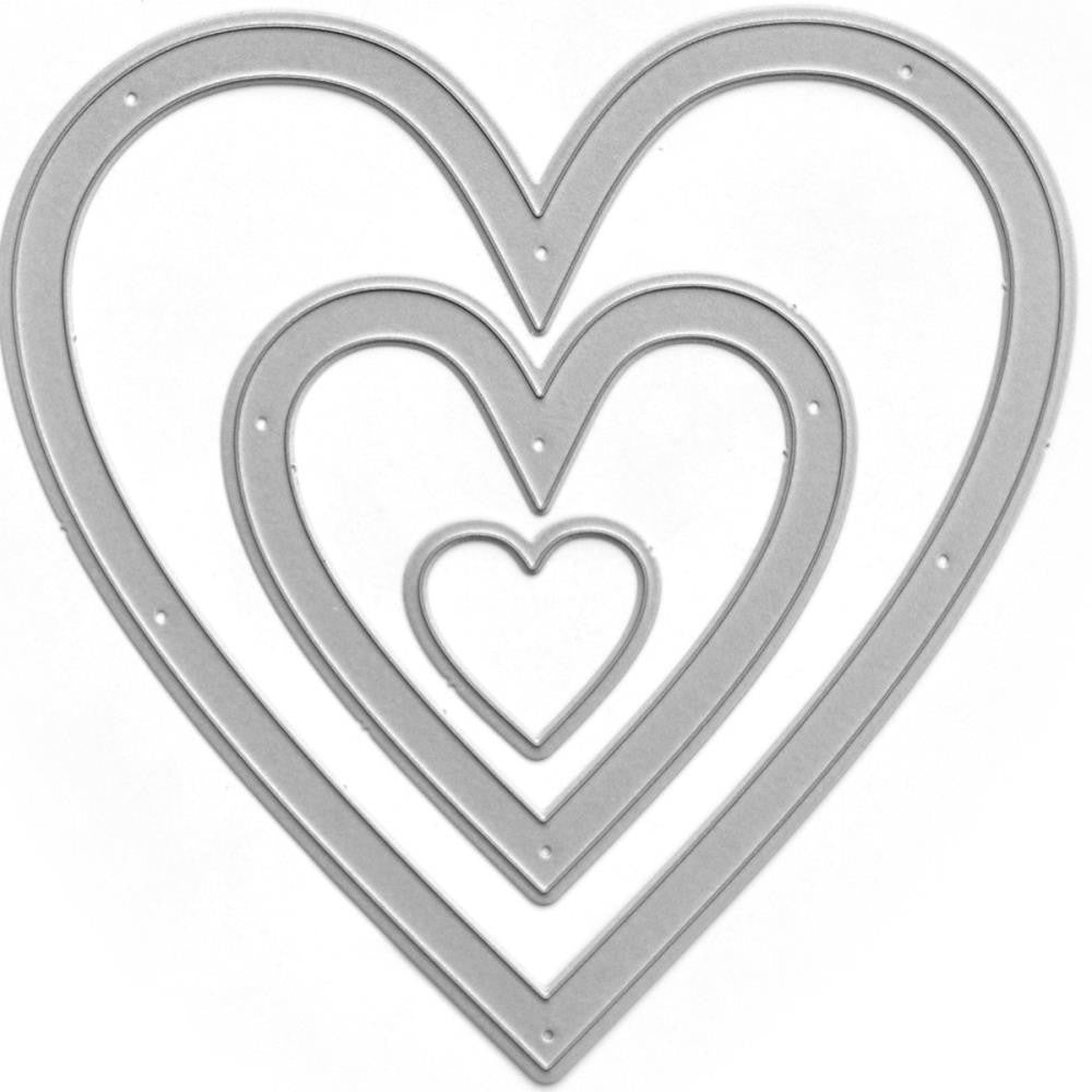 Queen & Co - Designer Die - Nested Hearts