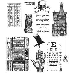 Tim Holtz - Cling Stamps - Mini Halloween #5