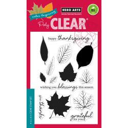 "***New Item*** Hero Arts, Clear Stamps, 4"" x 6"" - Coloring Layering Grateful Leaves"