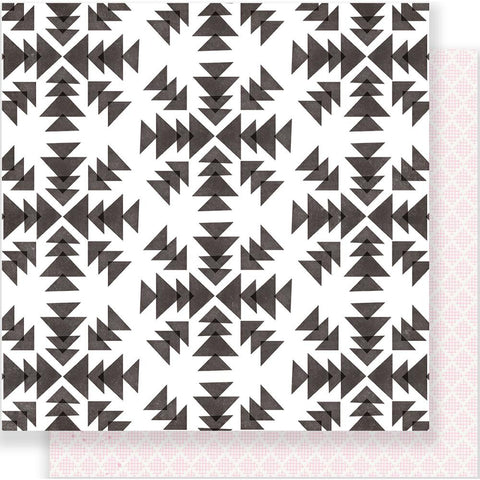 "***New Item*** Crate Paper - Snow & Cocoa Double-Sided Cardstock 12""X12"" - Snowflakes"