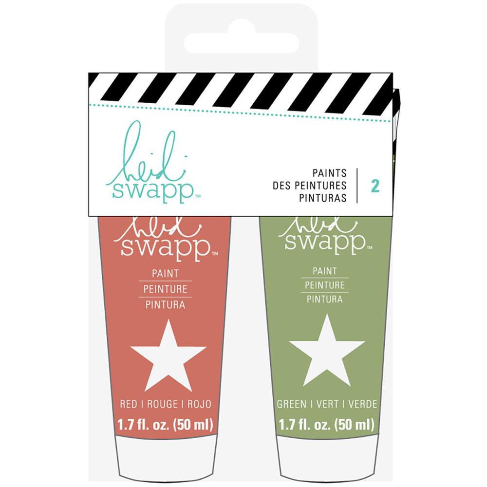 Heidi Swapp -  Paint Set 2/Pkg - Red & Green