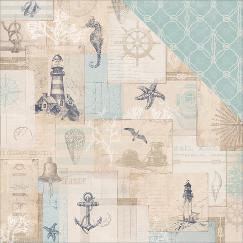 "Kaisercraft - High Tide Double-Sided Cardstock 12""X12"" - Ahoy"