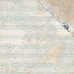 "Kaisercraft - High Tide Double-Sided Cardstock 12""X12"" - Sea Map"