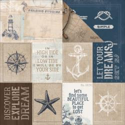 "Kaisercraft - High Tide Double-Sided Cardstock 12""X12"" - Set Sail"