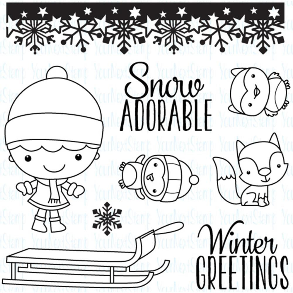 "Your Next Stamp Clear Stamps, 4""X4"" - Winter Wonderland Phoebe"