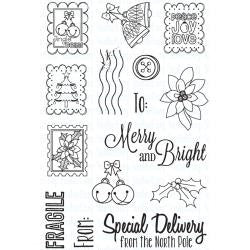 "***New Item*** Your Next Stamp Clear Stamps, 4""X6"" - Holiday Postage"