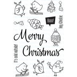 "Your Next Stamp Clear Stamps, 4""X6"" - Merry Christmas Chickie"