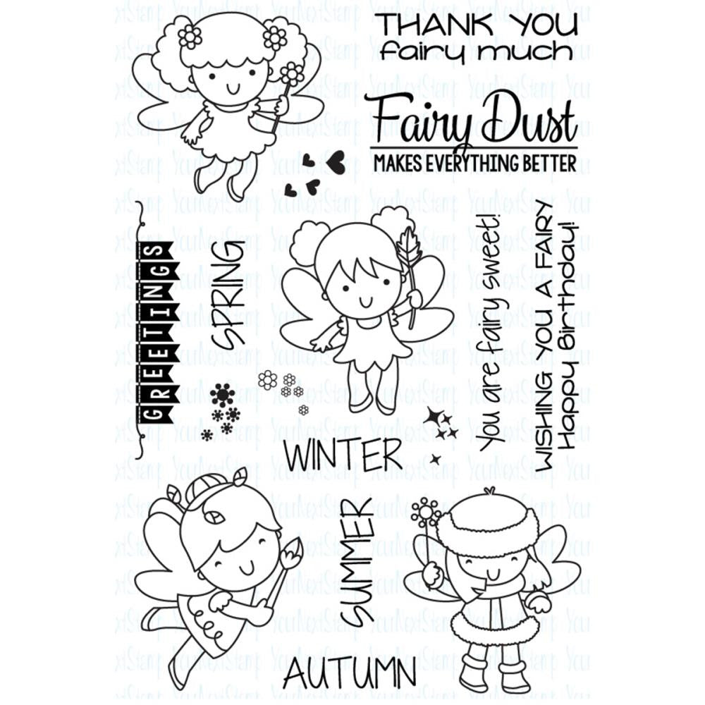 "Your Next Stamp Clear Stamps, 4""X6"" - Fairy Dust"