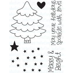 "Your Next Stamp Clear Stamps, 3""X4"" - Merry & Bright Tree"