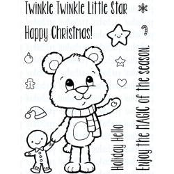 "Your Next Stamp Clear Stamps, 3""X4"" - Huggles Christmas Star"