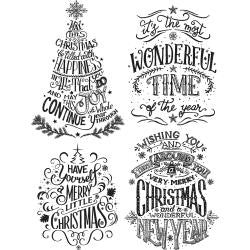 "***New Item*** Tim Holtz - Cling Rubber Stamp Set 7""X8.5"" - Doodle Greetings #2"
