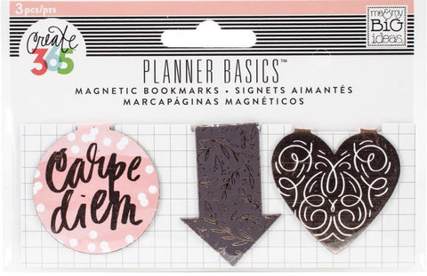 ***Pre-Order*** Me & My Big Ideas - Create 365 Planner Basics Magnetic Bookmarks - Rose