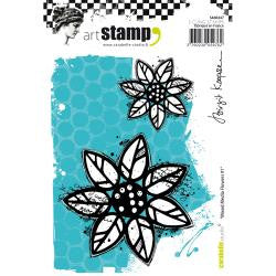 Carabelle Studio - Cling Stamp A6 - Mixed Media Flowers #1