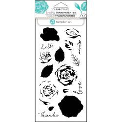 "Hampton Art, Layering Clear Stamps 4""X8"" - Roses"