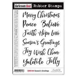 "Darkroom Door - Cling Stamps 7""x5"" - Season's Greetings"